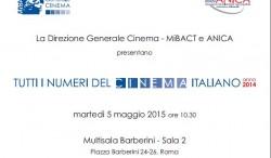 Tutti i Numeri del Cinema Italiano anno 2014