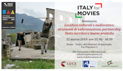 Italy for Movies: seminario su location e audiovisivo
