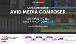 CSC-Sede Lombardia annuncia l'apertura delle iscrizioni per i Corsi certificati di AVID MEDIA COMPOSER