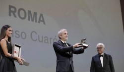 "The Golden Lion goes to ""Roma"" by Alfonso Cuaron"