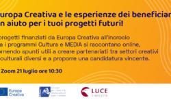 Webinar di Europa Creativa, 21 luglio – ore 10.30